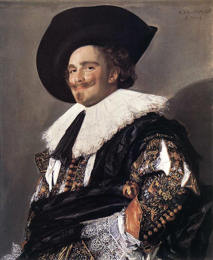 Śmiejący się kawaler (1624). Frans Hals (1582/1583?1666) [Public domain], via Wikimedia Commons