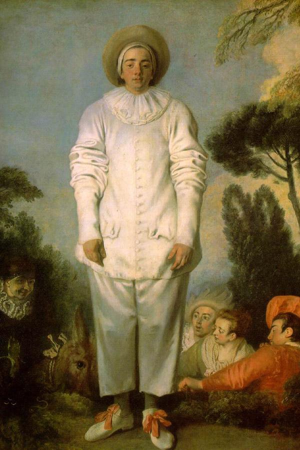Pierrot (Gilles) (1718-19). Źródło: www.wikipedia.pl