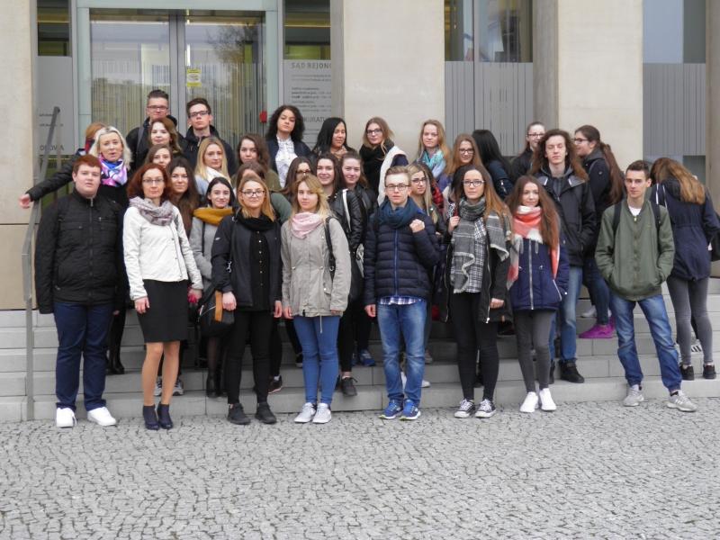 Uczniowie ZSP w wizytą w Sądzie Rejonowym w Radzyniu Podlaskim
